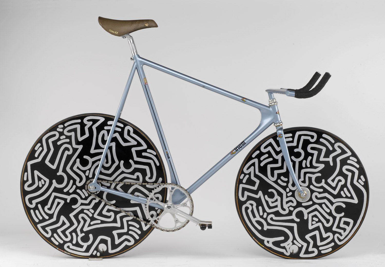 Cadre Cinelli Lazer décoré par Keith Haring