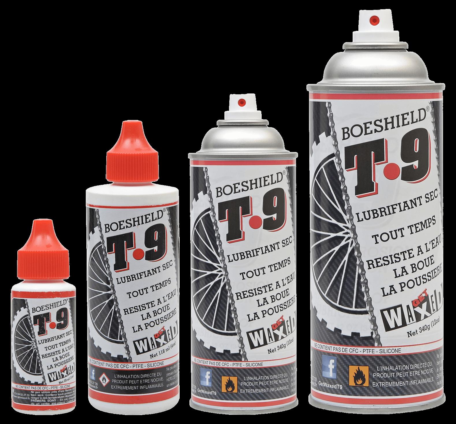 Burette et Spray de lubrifiant T9