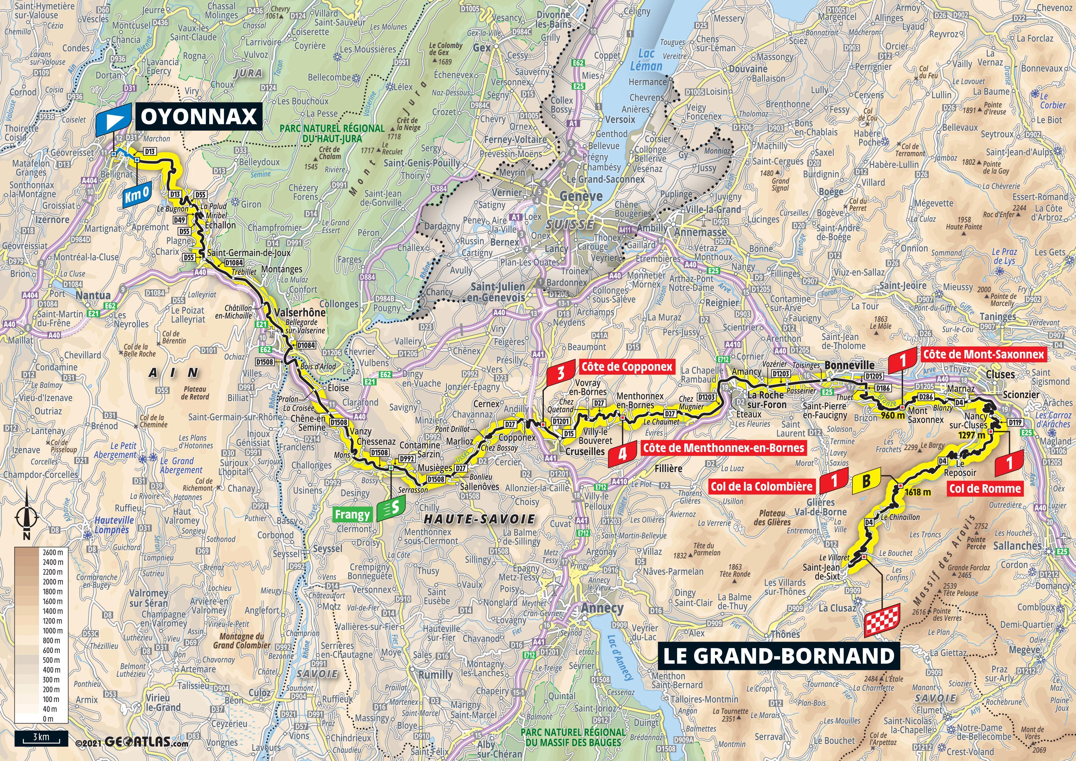 Tour de France 2021 carte étape 8